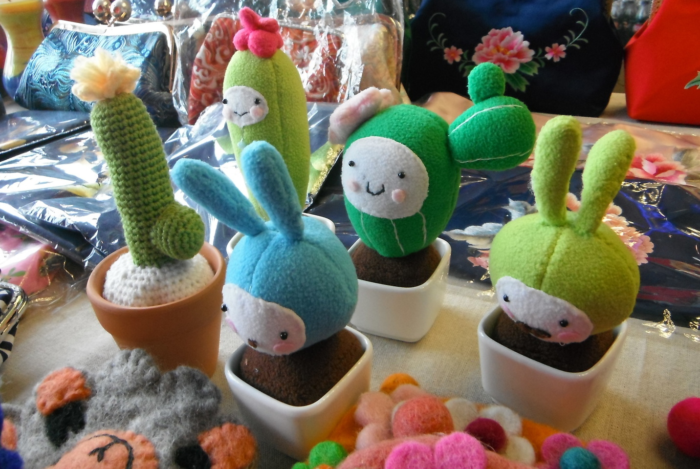 Stuffed Cactus Desk Pals