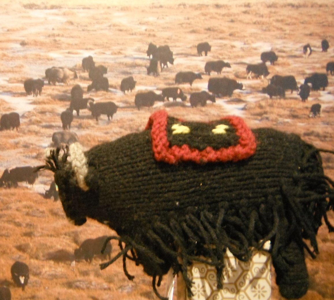 Knitted Yak Toy