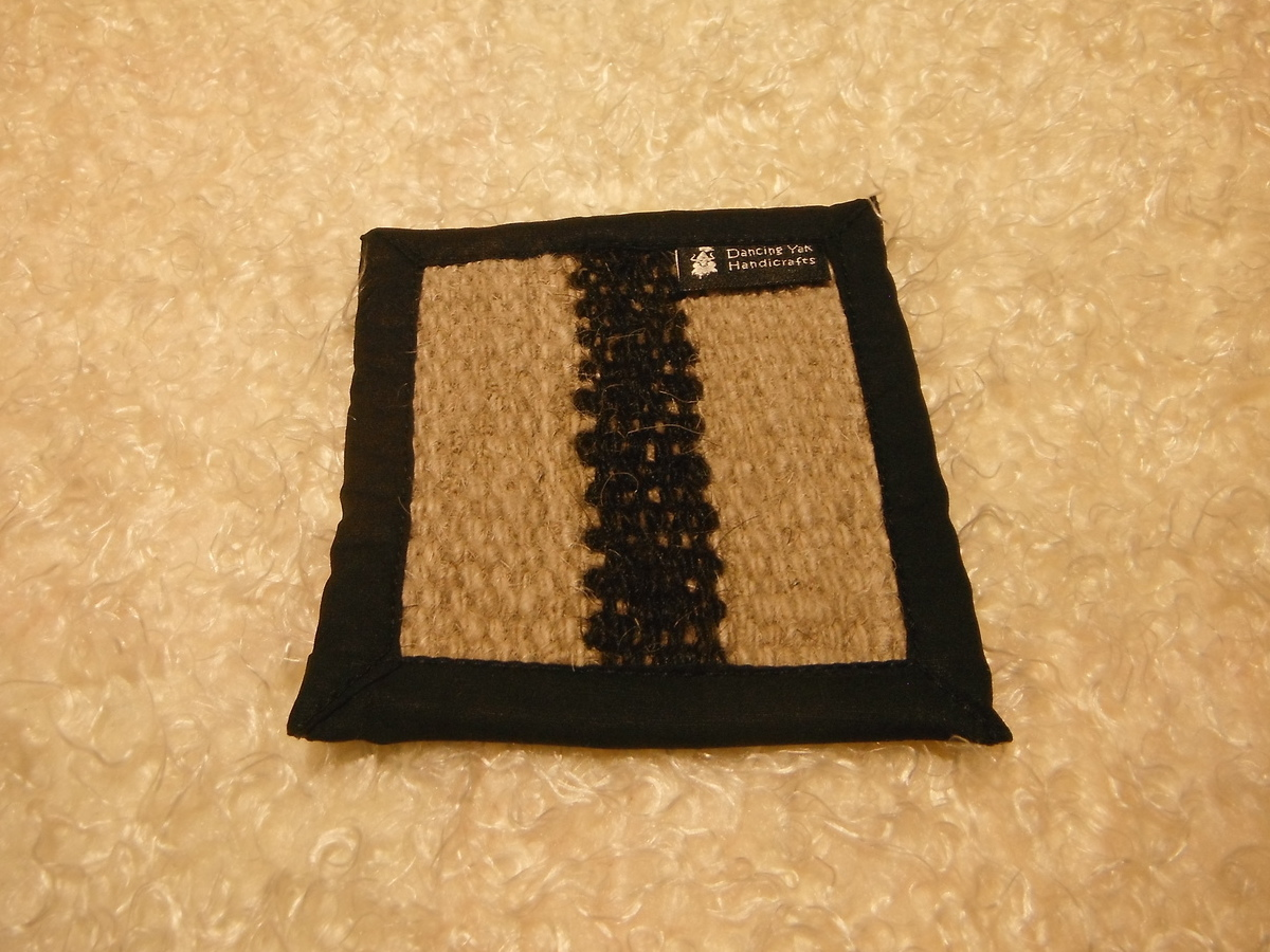 <p>Dancing Yak Small Yakwool Coaster&nbsp;</p>