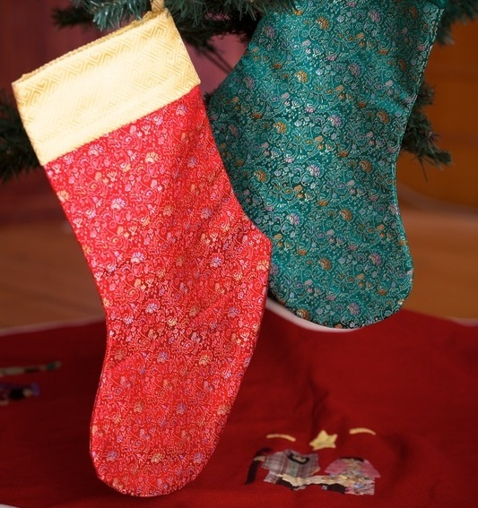 <p>Hearts &amp; Hands Silk Christmas Stockings&nbsp;</p>