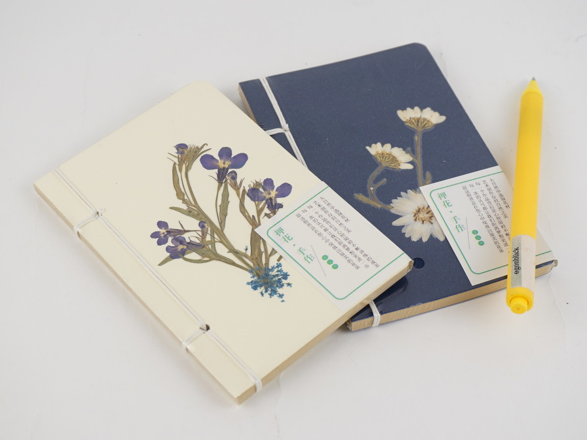 <p>Pressed Flower Recycled Notebooks</p>
