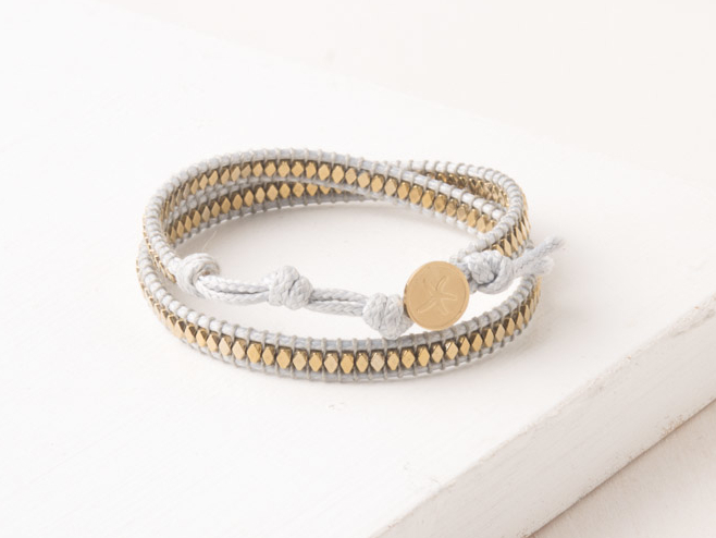 Starfish Sue White Wrap Bracelet 443-009