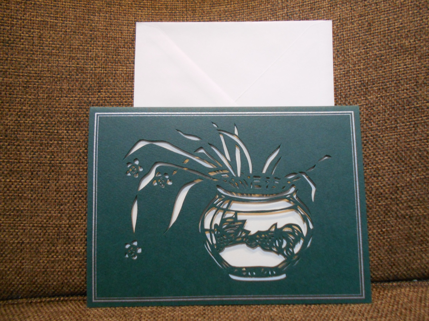 Evergreen Vase of Flowers Card