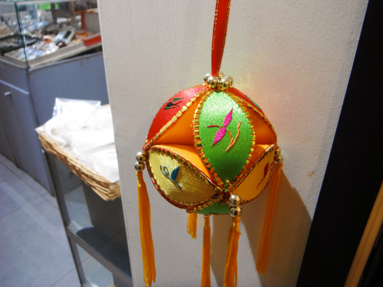Embroidered Ball Dangle