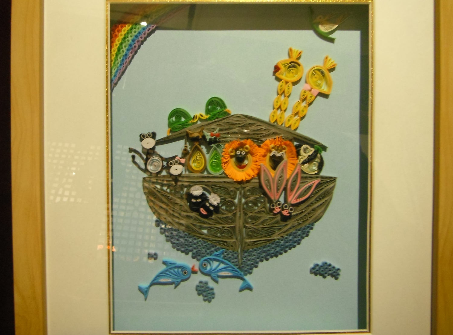 <p>Framed Quilling Noah's Ark Pictures&nbsp;</p>