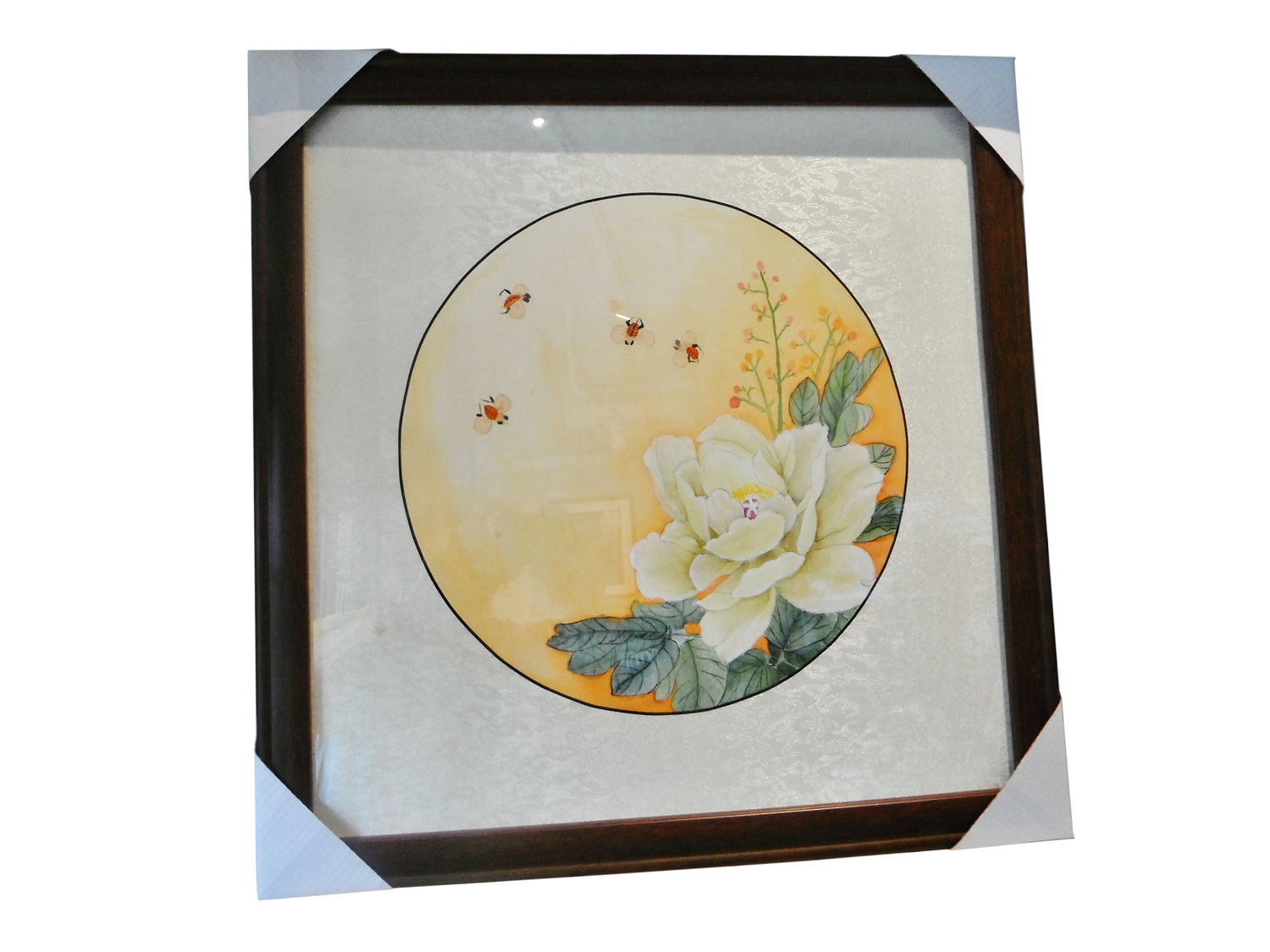 "SY ""Rachel"" Watercolour Painting <span style=""font-style: italic;"">Bees and Peony</span>"