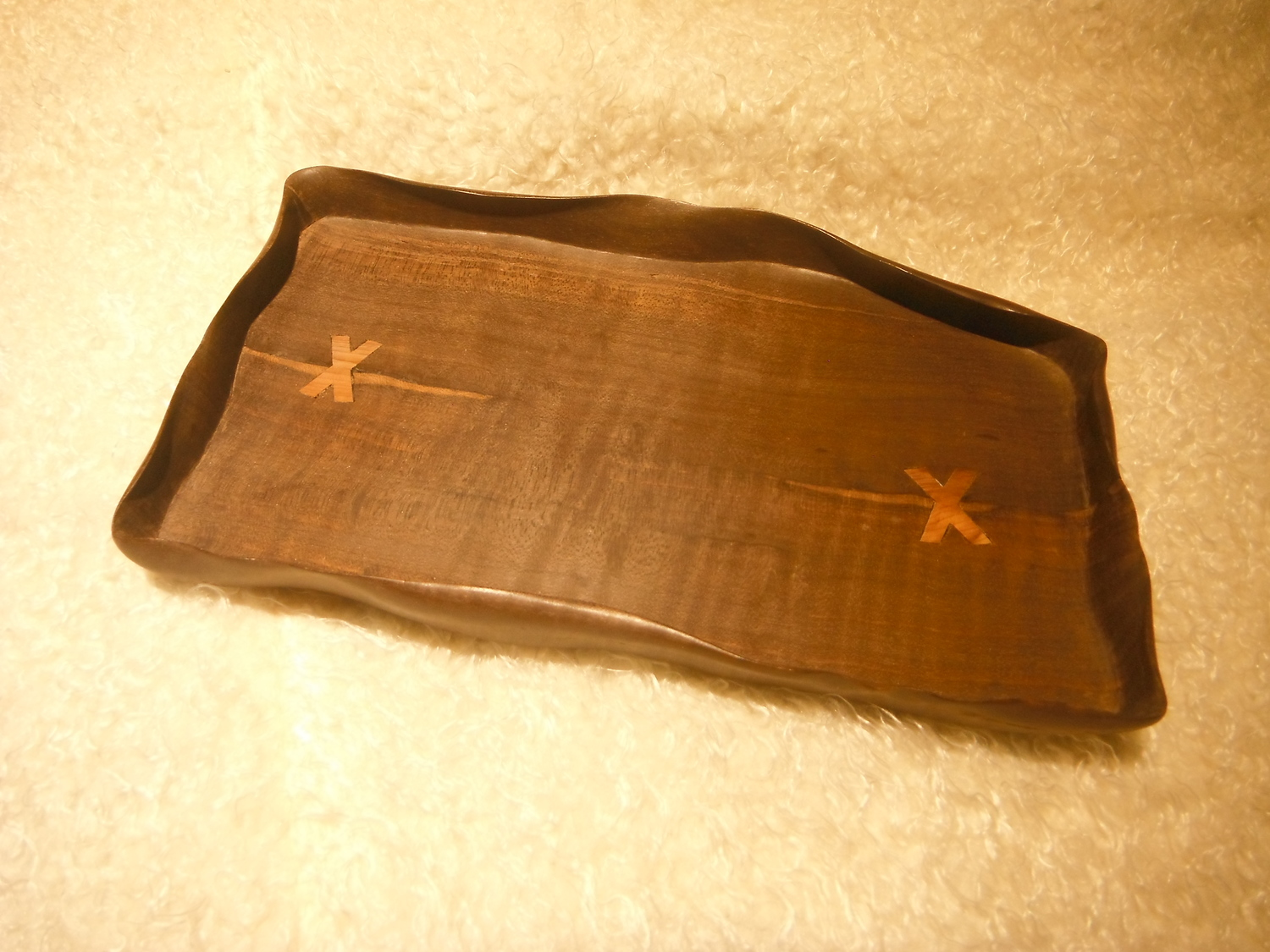 Liaochun Hand-Carved Wooden Tray (long)