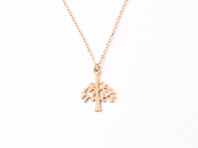 Starfish Tree Gold Necklace 226-120g