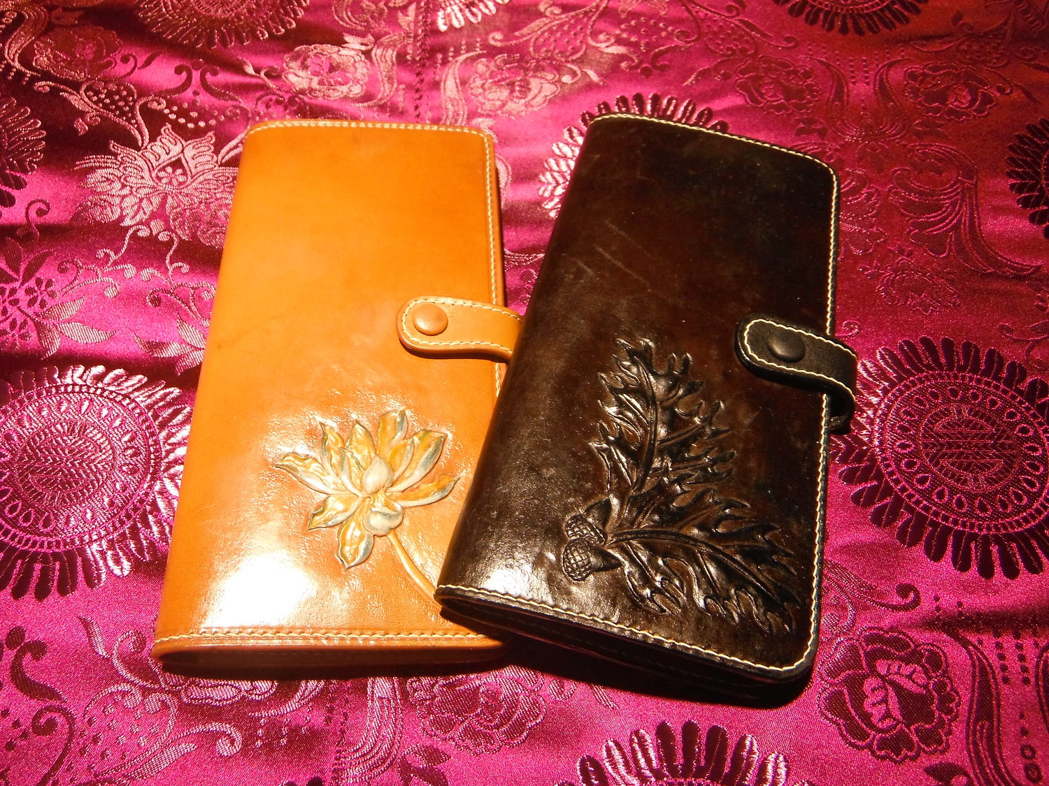 Carved Leather Wallets