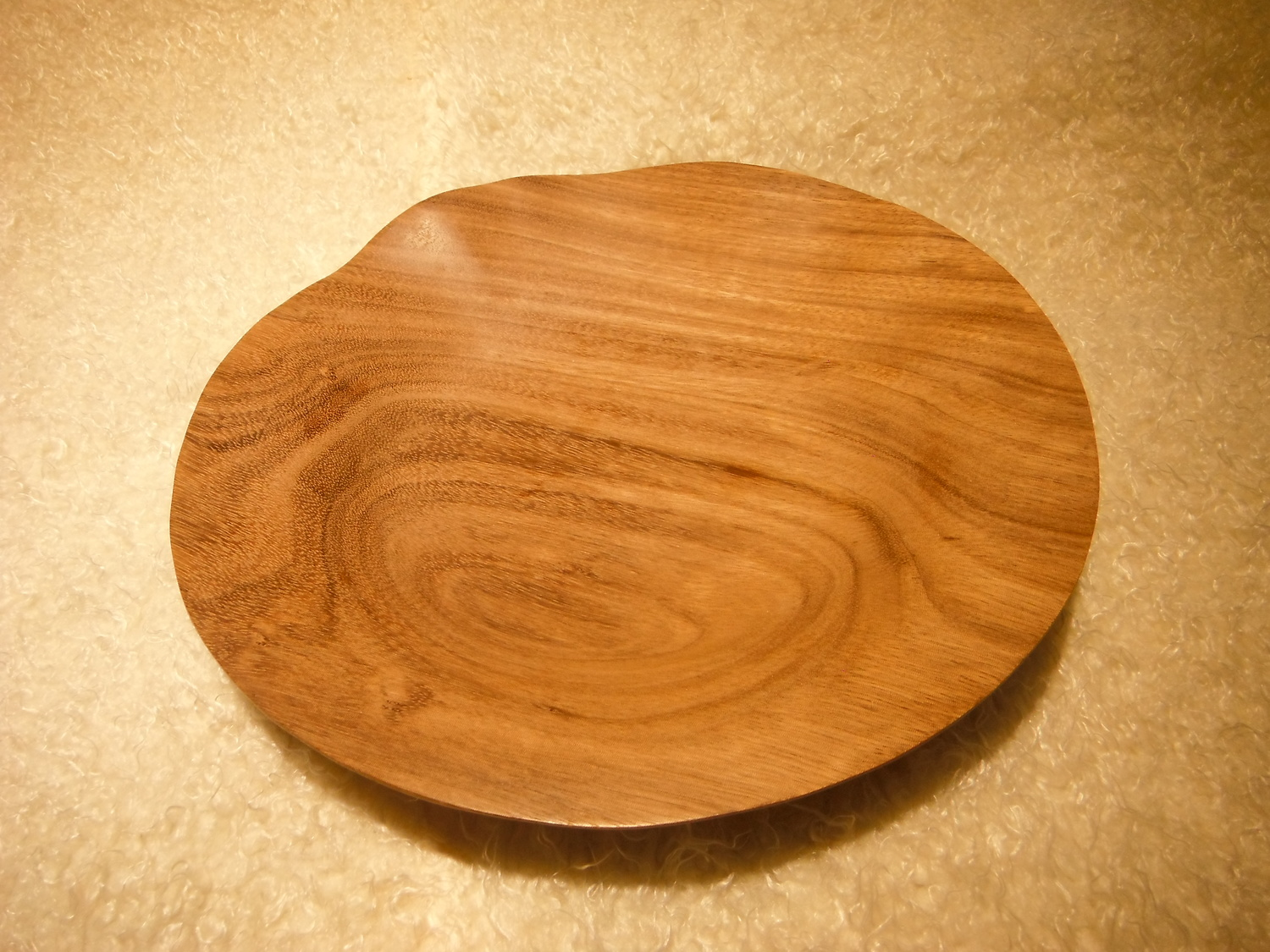 Liaochun Hand-Carved Wooden Plate