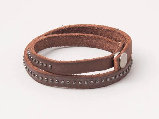 Annie Leather Wrap Bracelet 433-006