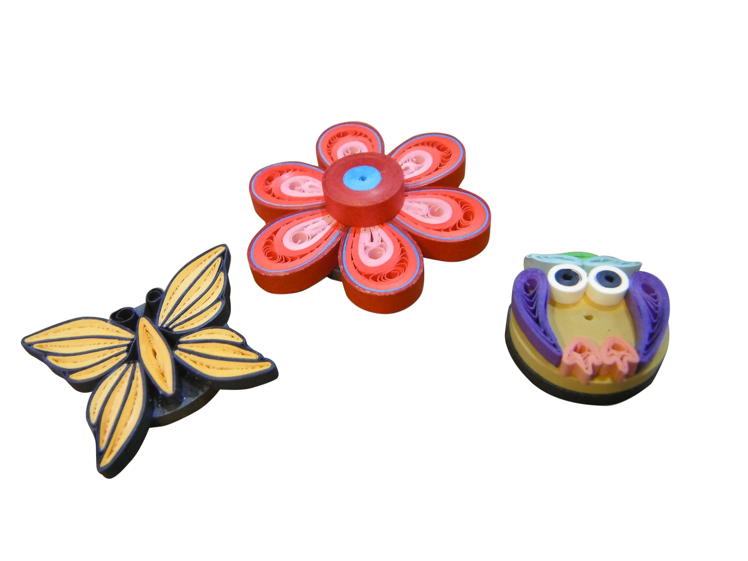 <p>Quilling Magnets</p>