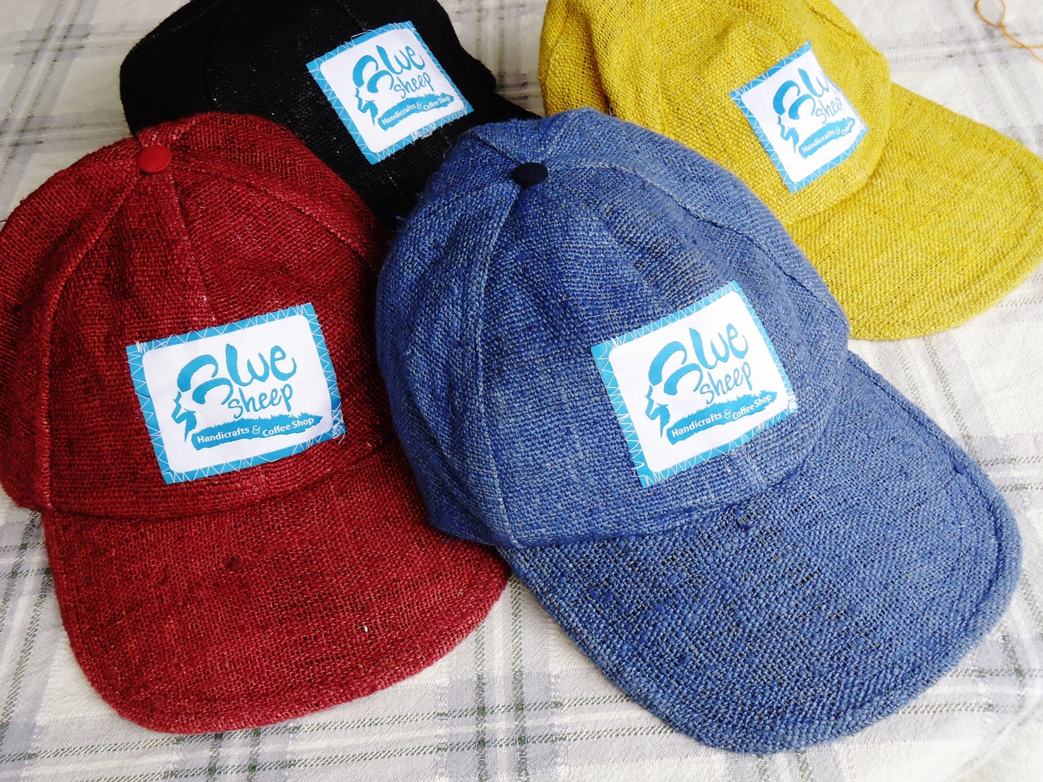 Nepalese Hemp Blue Sheep Baseball Caps
