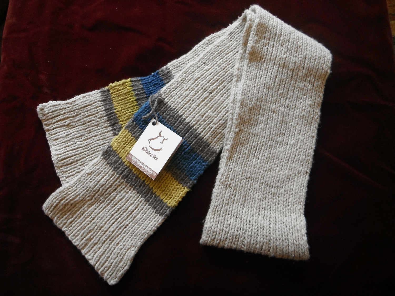 <p>Rocking Yak Stripey Scarves</p>