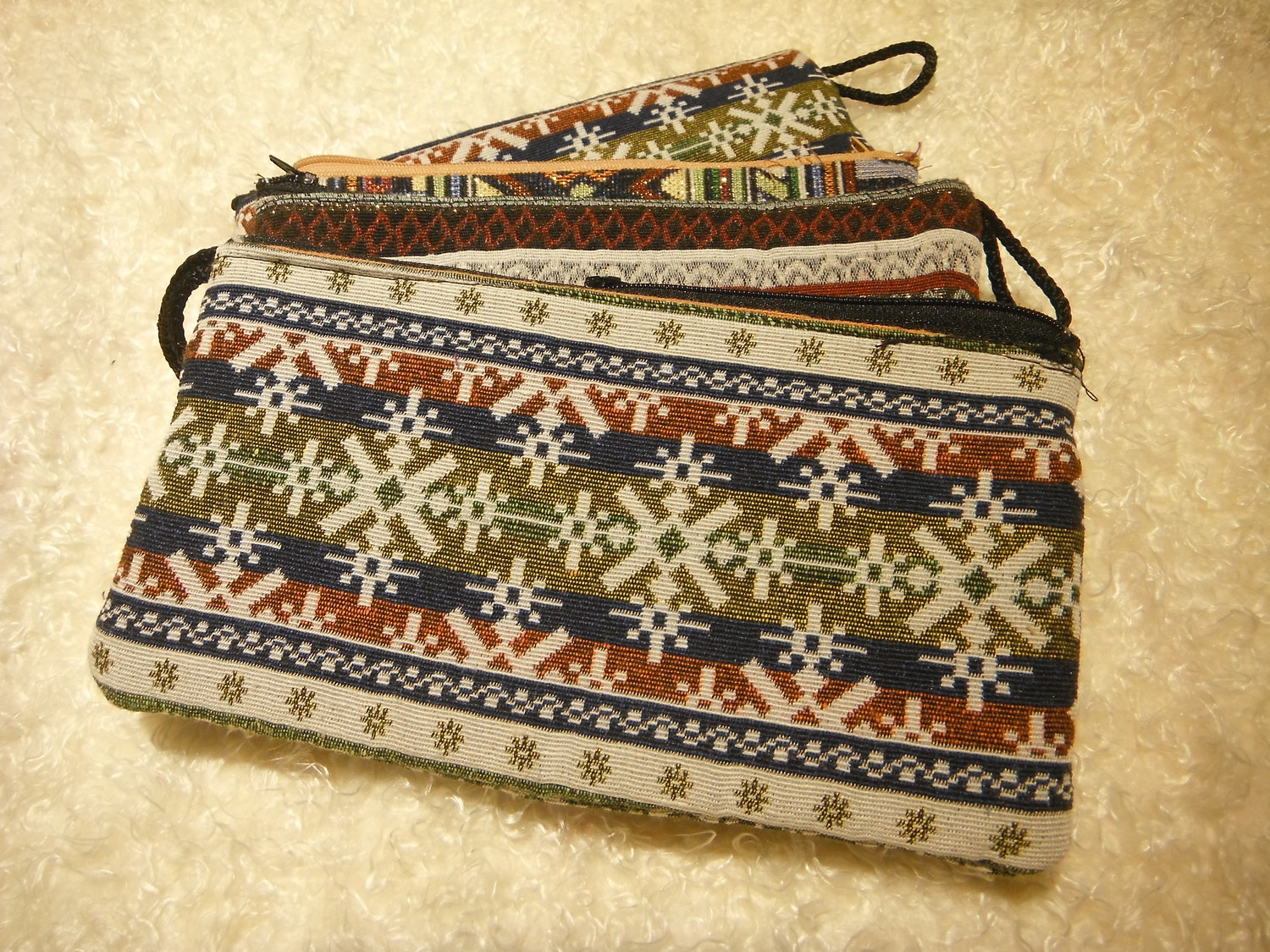 Inle Market Padded Cosmetic Bag