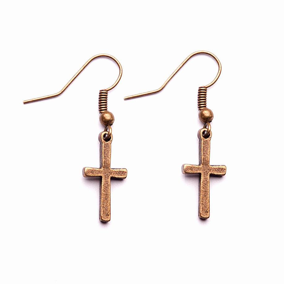 <p>Eden Bronze Cross Earrings E239&nbsp;</p>