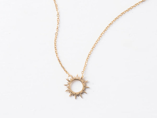 Starfish Mallory Gold Sun Necklace 226-071