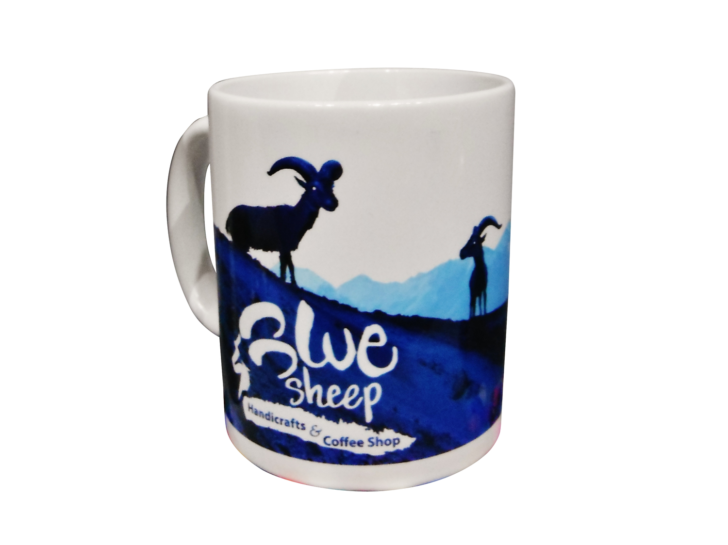 Blue Sheep Mugs