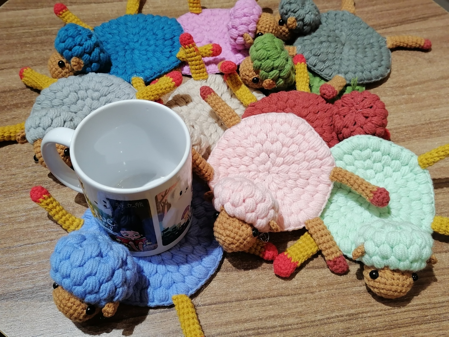 <p>Cute Sheep Coasters</p>