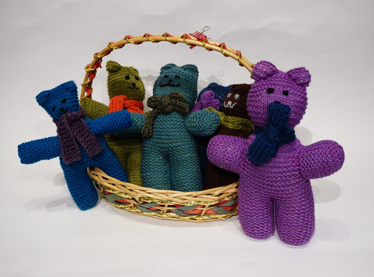 <p>Knitted Teddy Bears&nbsp;</p>